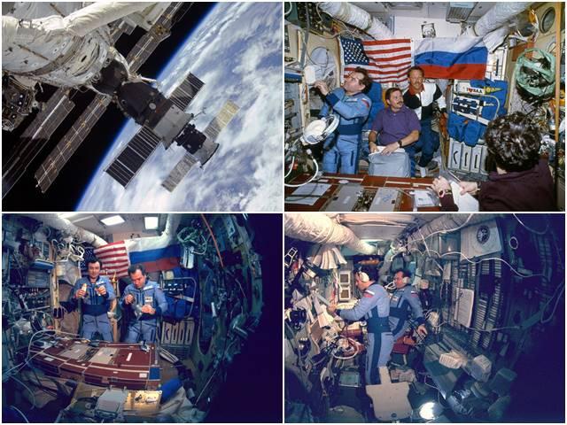 космонавты внутри станции мир 90-е годы